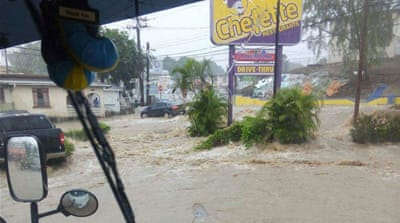 Homes destroyed as heavy rains hit the Caribbean
