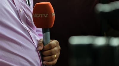 NDTV has been attacked by Modi supporters for its critical reports [Chandan Khanna/AFP]