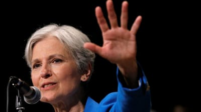 Jill Stein got 0.36 percent of the popular vote in the 2012 presidential election [Jim Young/Reuters]