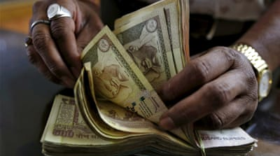The government said there had been a disproportionate rise in the number of 500 and 1,000-rupee notes [Reuters]
