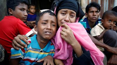 Nearly 65,000 Rohingya Muslims have fled to neighbouring Bangladesh since October [Mohammad Ponir Hossain/Reuters]