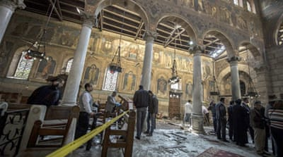 St Mark's Cathedral is home to the office of the Orthodox Christian Pope Tawadros II [AP]