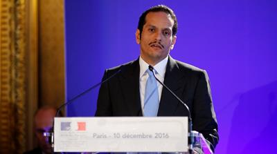 Qatari Foreign Minister Sheikh Mohammed bin Abdulrahman Al-Thani in Paris, December 10, 2016 [Reuters]