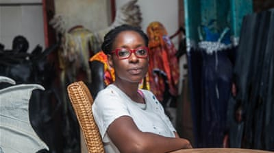 Born in 1975 in Lagos, artist Peju Alatise was raised within a traditional family and says she originally encountered opposition to her chosen career [Adeola Olagunju/Al Jazeera]