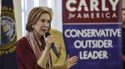 Fiorina, the lone female candidate in the Republican race, struggled to distinguish her policies in the crowded field [Reuters]
