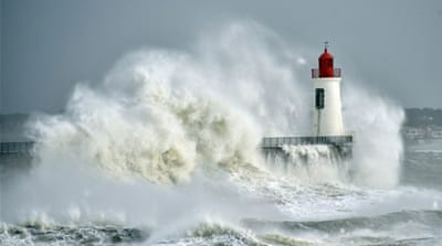 Stormy weather batters Western European coastlines
