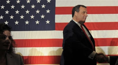 Some Republicans blamed Christie for helping President Obama win re-election in 2012 [EPA]