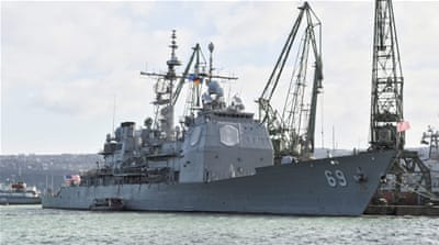 NATO's Standing NATO Maritime Group Two has five ships near Cyprus [File: Plamen Ivanov/Press office US embassy Bulgaria via EPA]