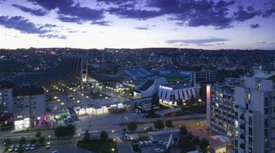 A view of Pristina, the capital of Kosovo [Thomas Trutschel/Photothek via Getty Images]