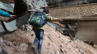 Here is what school is like in Syria's Aleppo