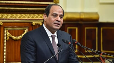 Sisi declared that Egypt had completed its transition to democracy [EPA]