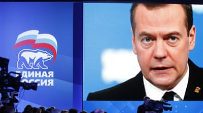 "Medvedev told a security conference in Germany a new period of ""cold war"" had begun [EPA]"