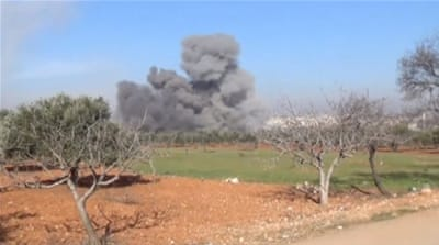 Heavy smoke rises from a MSF-supported hospital in Idlib, Syria [Reuters]