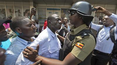 Clashes follow Uganda opposition leader's arrest