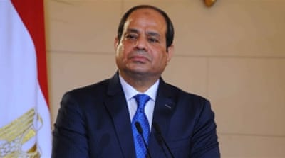 President Sisi said the Egyptian people have a responsibility to protect security and stability [Handout/EPA]