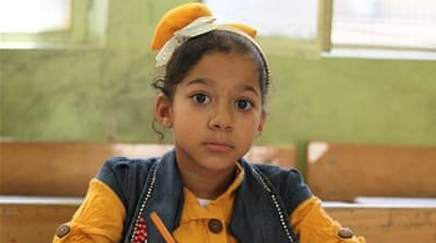 Aya Kassem is a seven-year-old Palestinian refugee from Damascus [UNRWA]