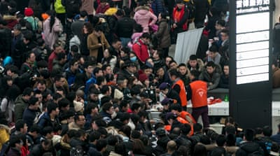 Chinese travellers stranded in Lunar New Year crush