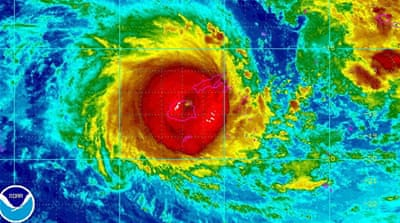 Winston has now strengthened into the most powerful storm recorded in the South Pacific, east of Australia. [NOAA/EPA]