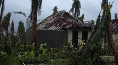 A beachside villa and trees lay destroyed after high winds caused by Cyclone Winston [Sarah Bingham/Reuters]