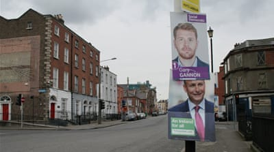 Homeless Irish families face eviction on election day