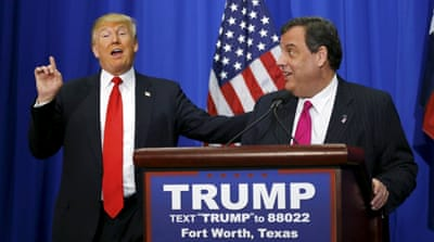 Christie will be forced to defend some of the harsh things he's been saying about Trump [Reuters]