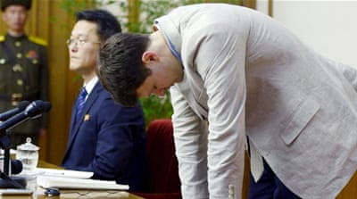 No details of charges or the punishment Otto Warmbier, 21, faces were released [Kyodo/Reuters]