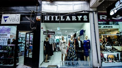 Kosovo shops celebrate Hillary Clinton and her style