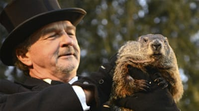 Groundhog Punxsutawney Phil predicts end of US winter