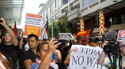 Controversial TPP pact signed amid New Zealand protests