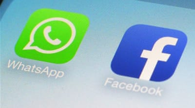 Brazilian media says the authorities are specifically targeting WhatsApp, Facebook's popular mobile phone chat tool [AP]