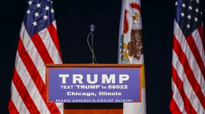 US election: Trump cancels Chicago rally after scuffles