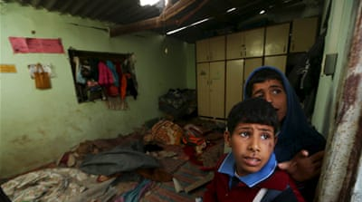 Medical officials said fragments from a missile fired by an Israeli aircraft killed the boy [Mohammed Salem/Reuters]