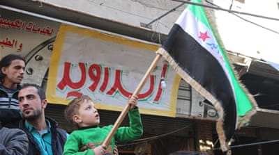 Syrian civil war: Hundreds renew 'pledge' to oust Assad