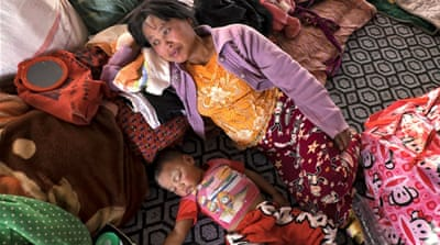 Displaced by continued fighting in Myanmar's Shan state