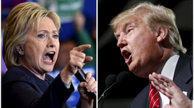 Democratic presidential candidate Hillary Clinton and Republican presidential candidate Donald Trump [Reuters]