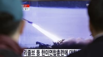 Defiant North Korea 'fires ballistic missiles into sea'