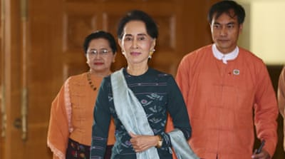 Aung San Suu Kyi led the NLD to a landslide victory in the November 8 general elections [Aung Shine Oo/AP/File]