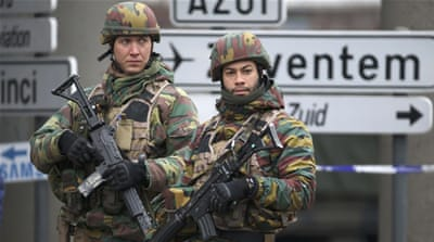 Belgian troops control a road leading to Zaventem airport following Tuesday''s airport bombings in Brussels, Belgium [REUTERS]