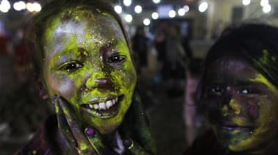 Holi festival marks the beginning of spring, celebrated all over Pakistan [Fareed Khan/AP]