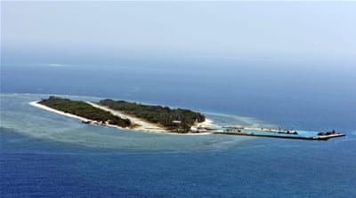 Taiwan shows off Taiping Island in the South China Sea