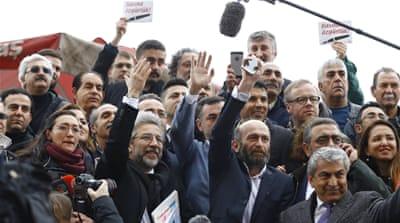 journalists held in Turkey