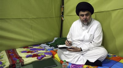 Iraqi cleric Muqtada al-Sadr starts Green Zone sit-in