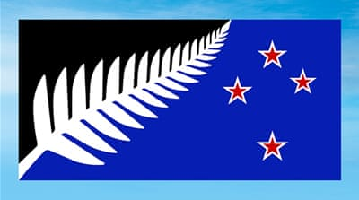 New Zealand's current flag features Britain's Union flag and four red stars in a Southern Cross formation [Rafael Ben-Ari/Reuters]