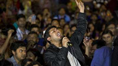 Kumar's arrest sparked a major row over freedom of expression, bringing thousands of students and activists onto the streets [AP]