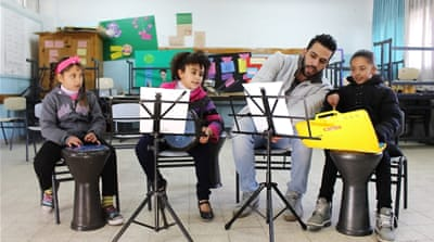 Music therapy for traumatised Palestinian children