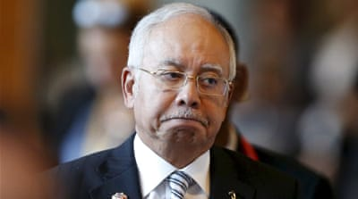 A report says that Najib spent about $15m on personal items using money from his bank accounts [Reuters]