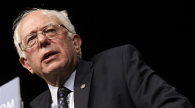Sanders has called for more equality between Israelis and Palestinians [AP]