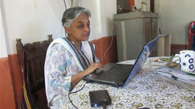 Vidhya Das has spent more than three decades studying and sharing the lives of some of India's most marginalised people [Chandrahas Choudhury/Al Jazeera]