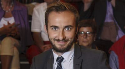 Jan Boehmermann recited the poem about Erdogan with references to bestiality and accusations [Reuters]