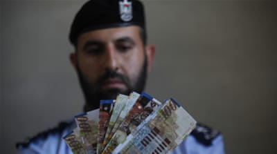 The missing revenues include pension contributions from Palestinian workers inside Israel [Reuters]